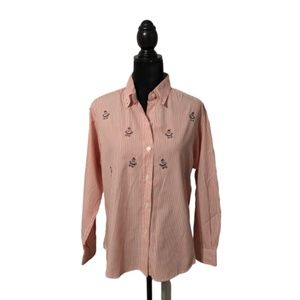 Impressions Santa Claus Button Down Shirt